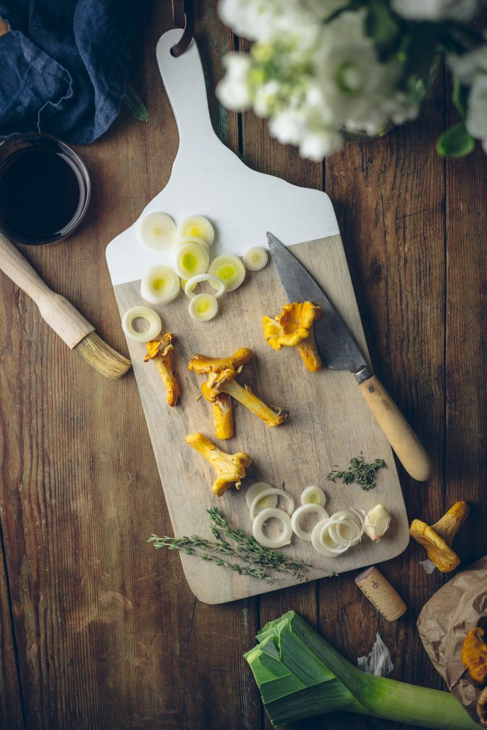 Ingredients for Chanterelle Stuffed Sweet Potatoes
