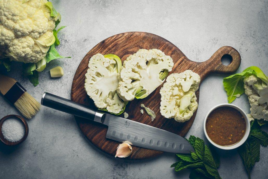 Cumin Spiced Cauliflower Steaks