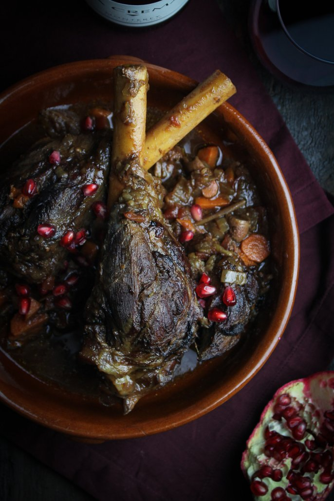 Moroccan-Braised Lamb Shanks