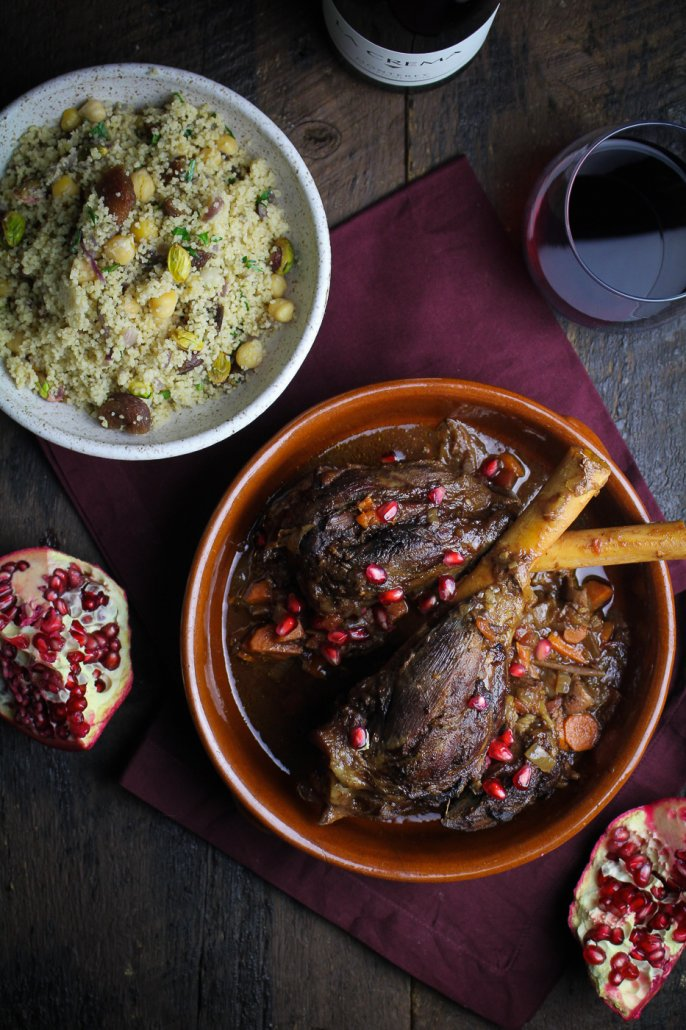 Moroccan Dinner: Moroccan Braised Lamb Shanks