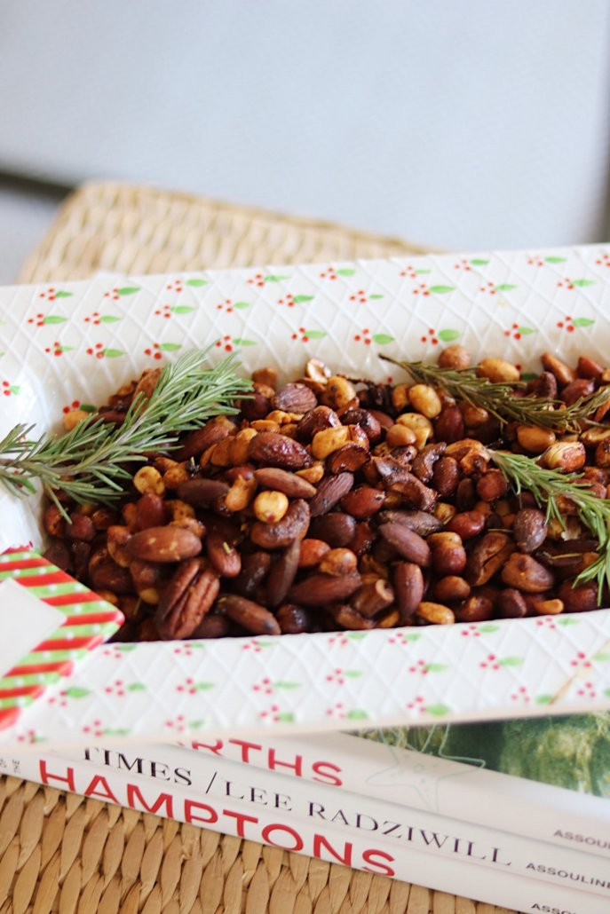 Simple Sweet and Spicy Mixed Nuts for the Holidays