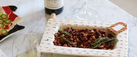 Simple Sweet and Spicy Mixed Nuts for the Holidays hero image
