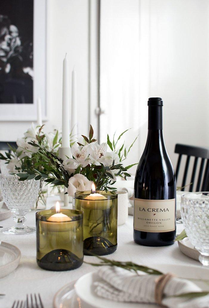 DIY Wine Bottle Decor: Wine Bottle Floating Candle Holders