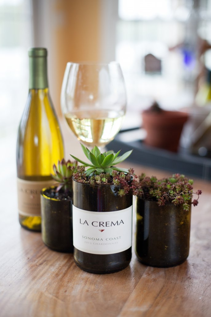 DIY Wine Bottle Decor: Wine Bottle Succulent Planters
