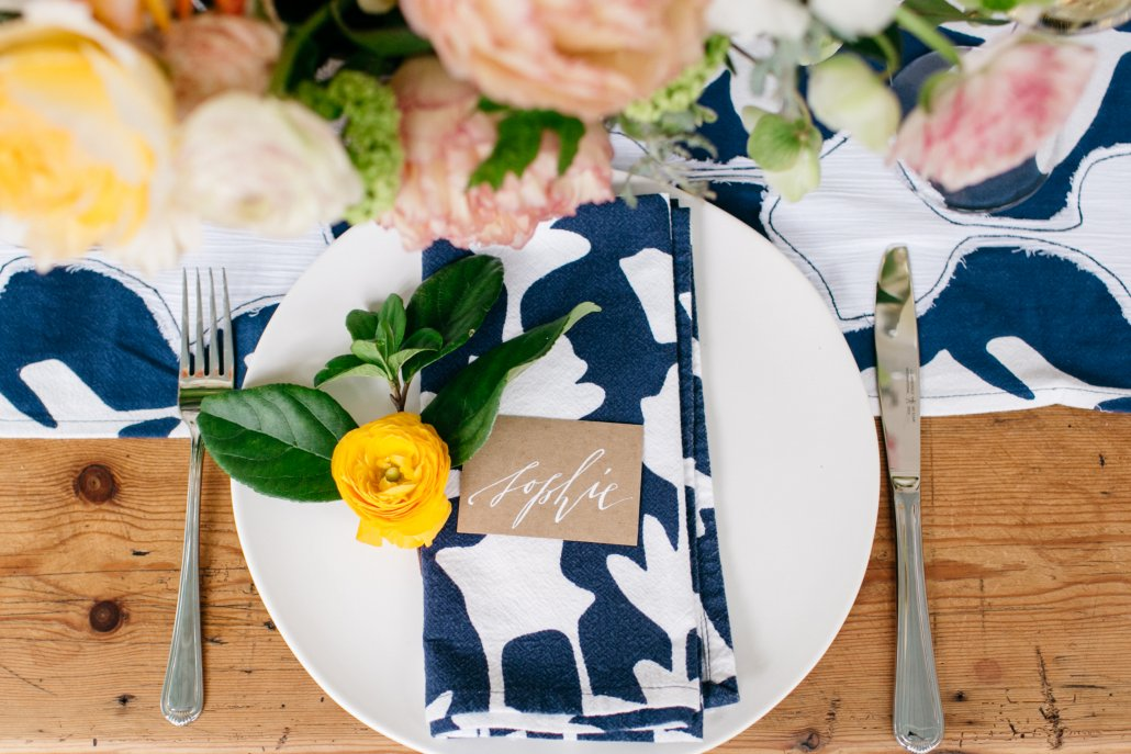 Spring Entertaining Placesetting