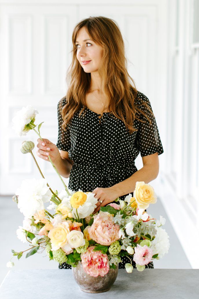 Spring Entertaining - Plush Floral Centerpiece