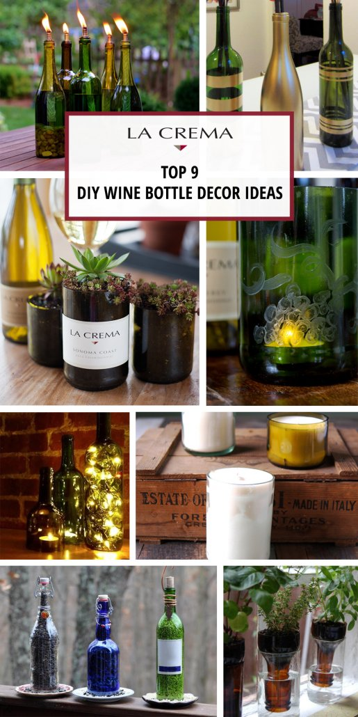 diy wine bottle decor 9 ways to upcycle empty bottles la crema