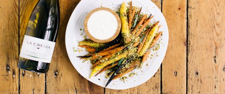 Rainbow Carrots with Yogurt and Pistachios