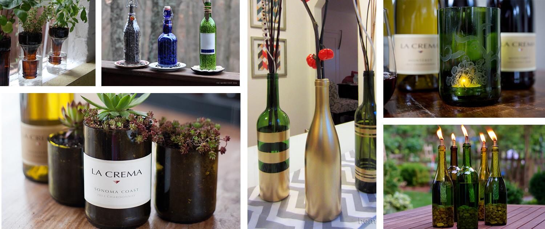 DIY Wine Bottle Decor 9 Ways
