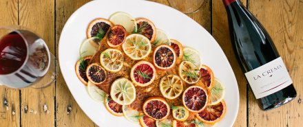 Roasted Wild Salmon with Citrus, Chiles and Herbs