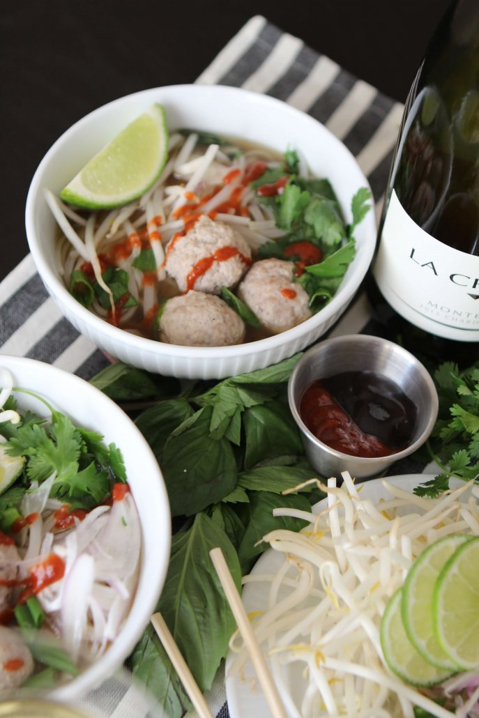 Homemade Pho with Meatballs
