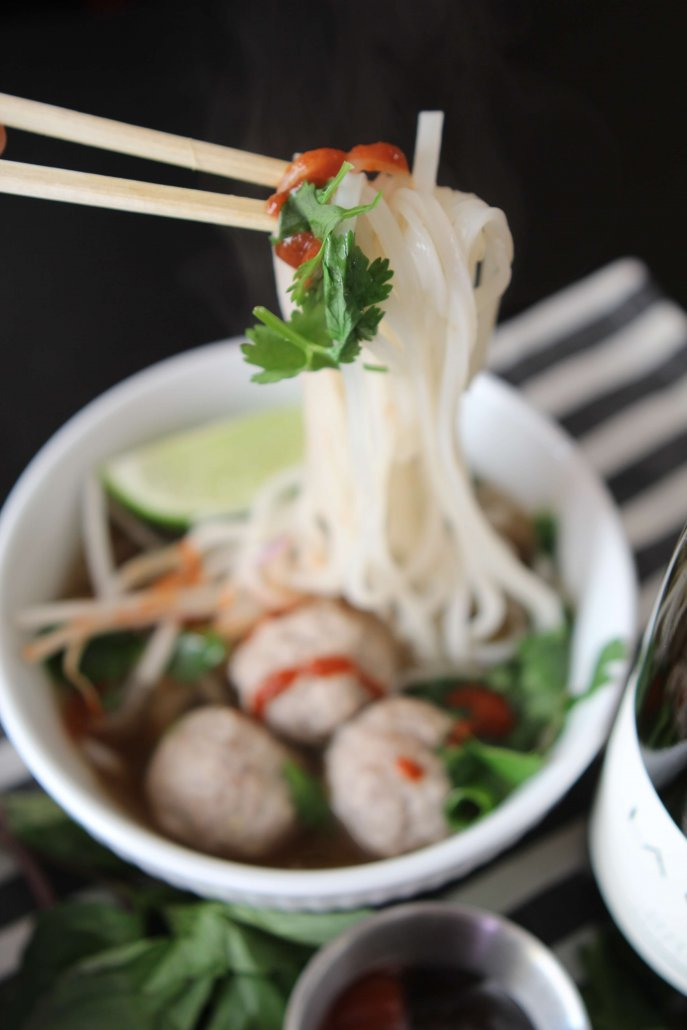 Pho with Vietnamese Meatballs