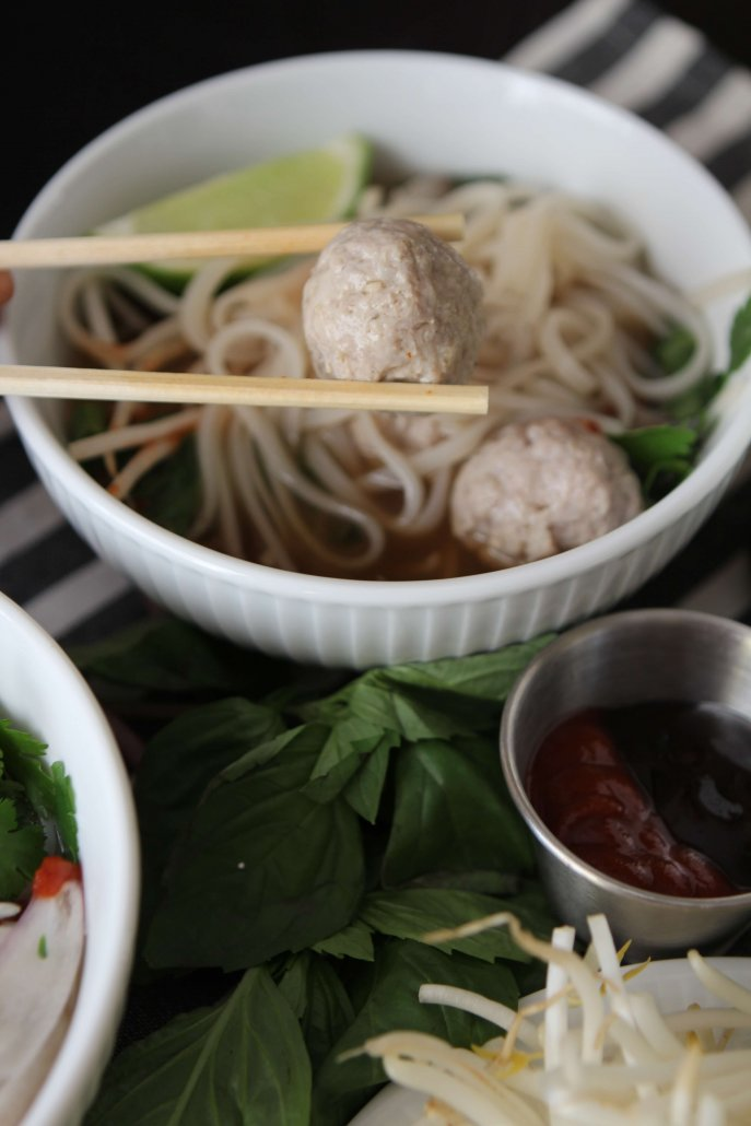 Pho with Vietnamese Meatballs
