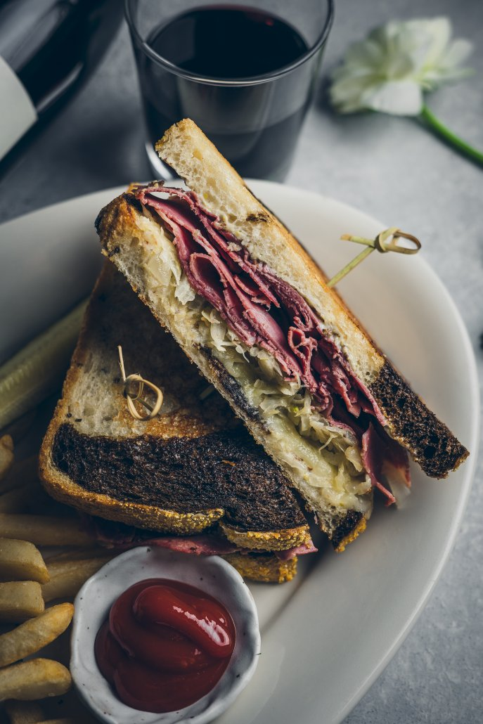 Corned Beef and Sauteed Cabbage Sandwich