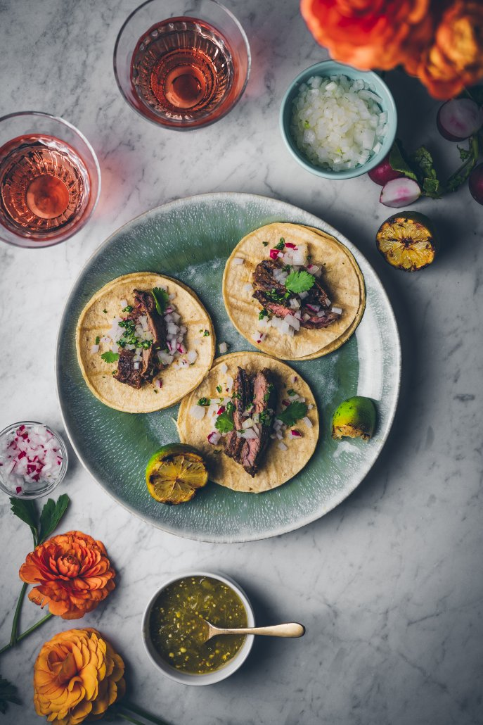 Citrus-Marinated Carne Asada Tacos