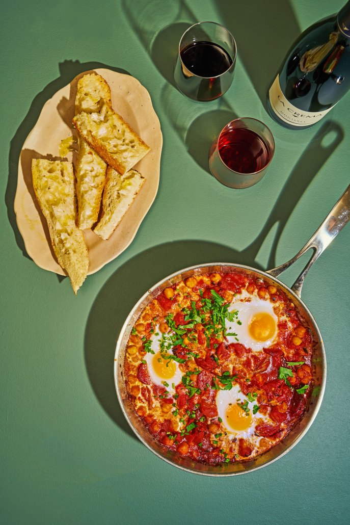 Shakshuka with Chorizo and Chickpeas