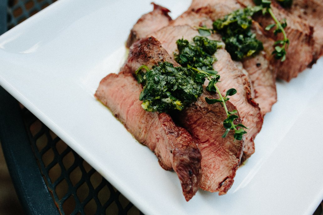 Grilled Steak with Chimichurri for National Wine Day