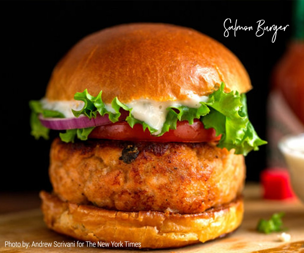 Gourmet Burgers for Summer: Salmon Burgers (from The New York Times)