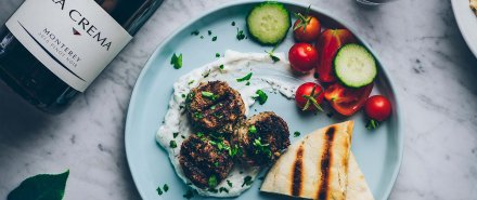 Grilled Lamb Meatballs with Mint Yogurt hero image