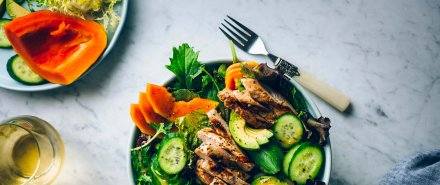 Grilled Marinated Chicken and Papaya Salad hero image